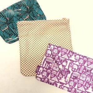Ipsy bundle lot cosmetic bags three